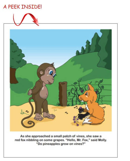 Sample page from Molly the Monkey