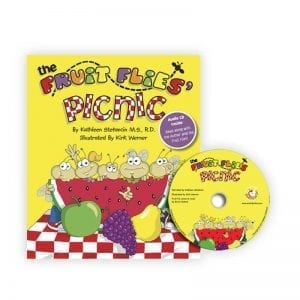 The Fruit Flies Picnic - Book and Audio CD for Children - Healthy Food Choices