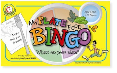 old myplate food bingo game